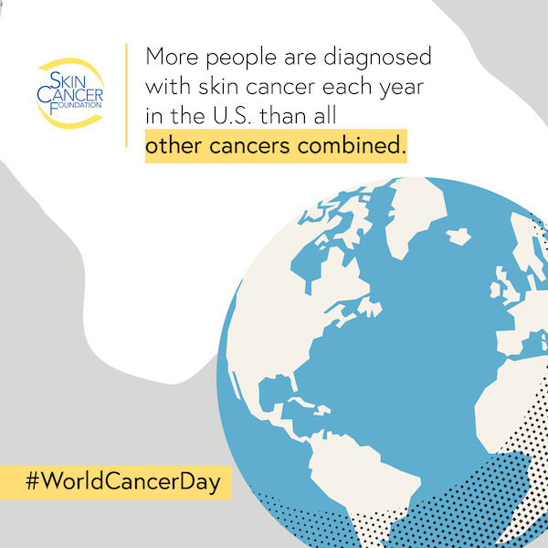More people are diagnosed with skin cancer in the U.S. each year than all other cancers combined