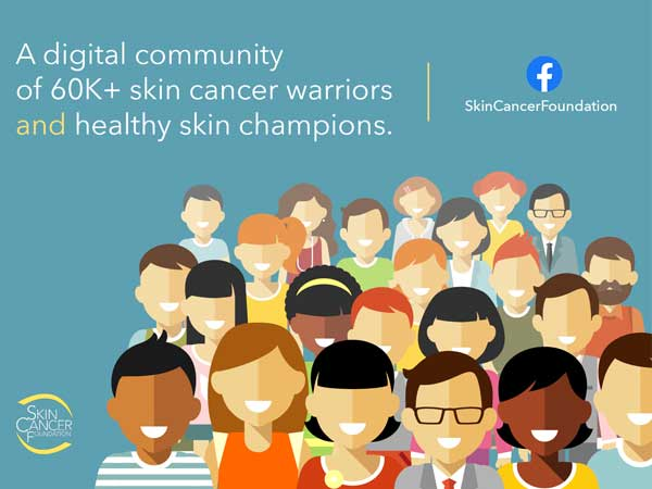 A digital community of 60K skin cancer warriors and healthy skin champions